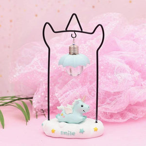 Unicorn Resin LED Night Light-Decorative Night Lamp-Blue-Khadiza Electricals
