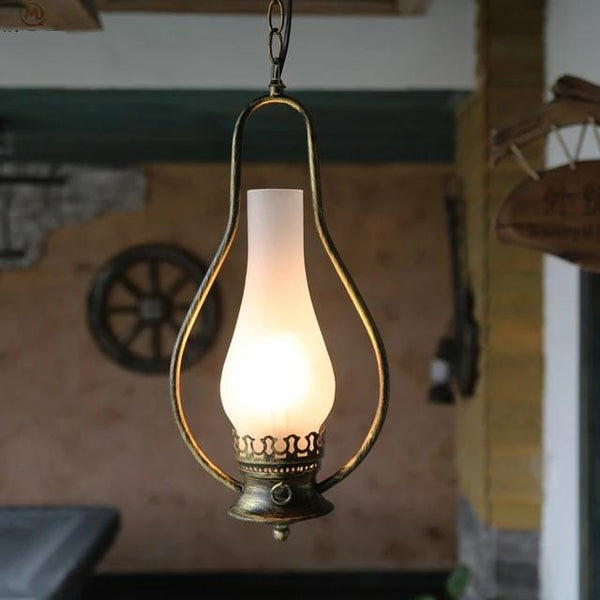 Vintage Kerosene Pendant Lamp made of Iron(Bulb Excluded) C