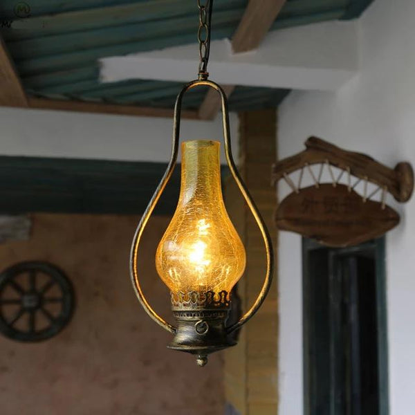 Vintage Kerosene Pendant Lamp made of Iron(Bulb Excluded) B
