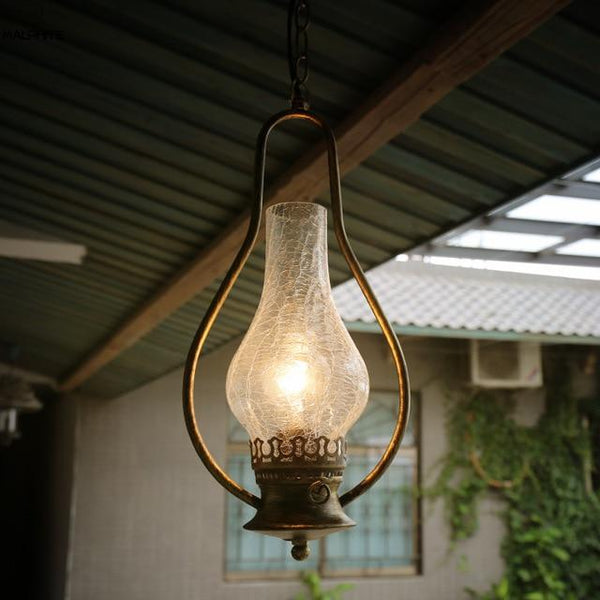 Vintage Kerosene Pendant Lamp made of Iron(Bulb Excluded) A
