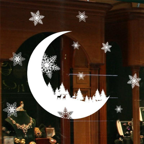 Snow & Moon  Wall Stickers for Home Decoration-Non Electric Home Decor-[variant_title]-Khadiza Electricals