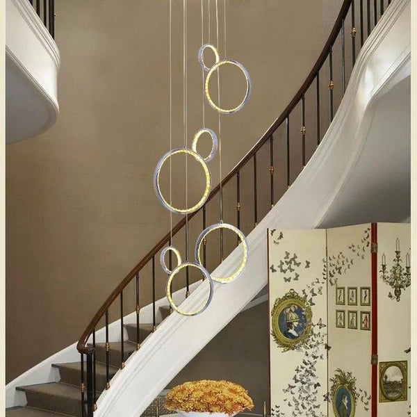 Hanging Circle Crystal LED Light (36W)