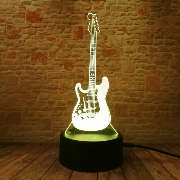 Guitar Night  Lamp With Touch Switch(3D Hologram Illusion)-Decorative Night Lamp-[variant_title]-Khadiza Electricals