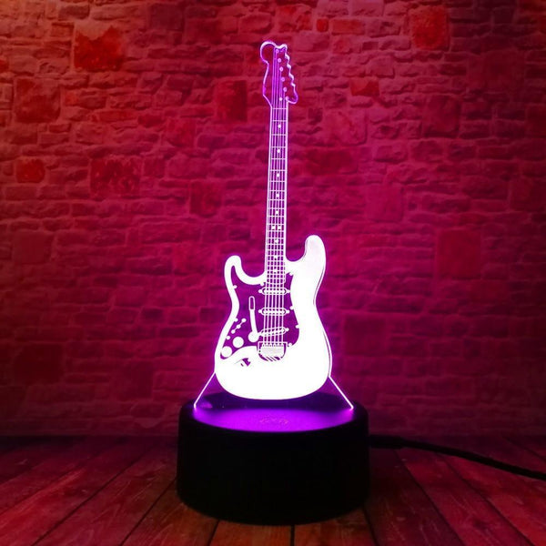 Guitar Night  Lamp With Touch Switch(3D Hologram Illusion)