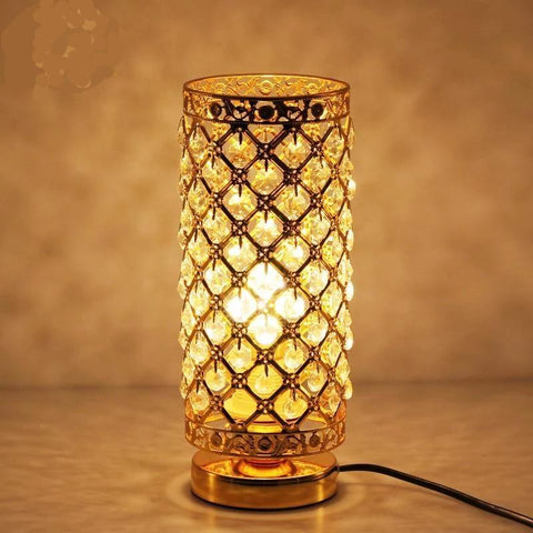 Elegant Crystal Table Lamp