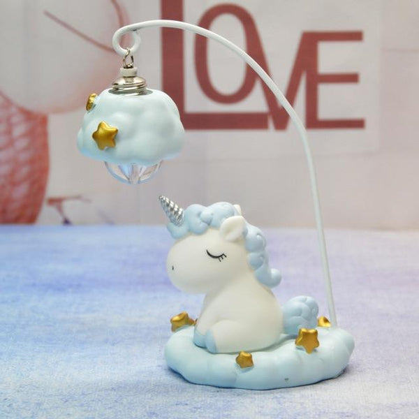 Cute Unicorn Resin LED Night Lamp-Decorative night Lamp-Blue-Khadiza Electricals