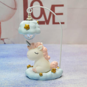 Cute Unicorn Resin LED Night Lamp