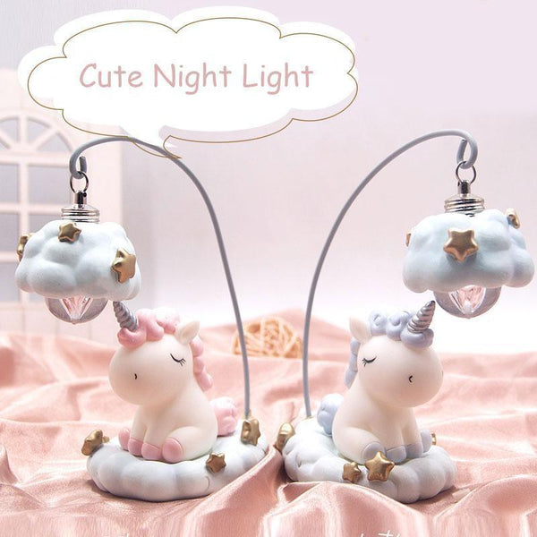 Cute Unicorn Resin LED Night Lamp-Decorative night Lamp-[variant_title]-Khadiza Electricals