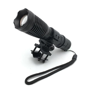 Zoomable T6 LED Flashlight for Hunting (9000Lm, 1*18650 battery, Remote Switch, Chargeable, with Gun Mount)-Flashlight/ Torch-China-Khadiza Electricals