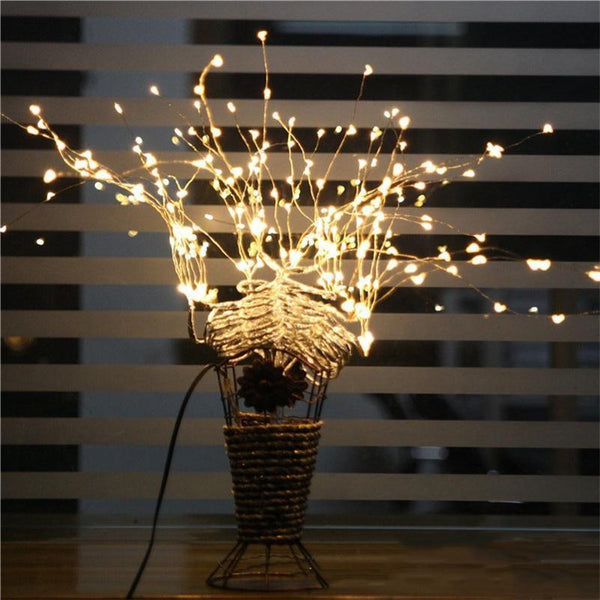 LED string light with Branches-Decorative String Light-White-Khadiza Electricals