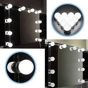 LED Vanity Mirror Lights Kit with Dim-able Light Bulbs-Other Electrical Products-EU Plug / 6 Bulbs / Pure White-Khadiza Electricals