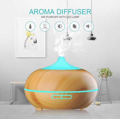 Wood Grain Cool Mist Humidifier  (USB Powered)