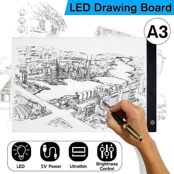 A3 LED Graphic Drawing Board for Writing Painting-Other Electrical Products-[variant_title]-Khadiza Electricals