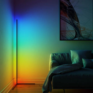Dimming Black/ White RGB Floor Lamp With Remote