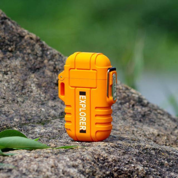 Waterproof USB Powered Electric Lighter yellow