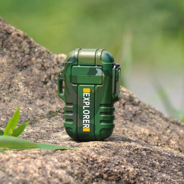 Waterproof USB Powered Electric Lighter green