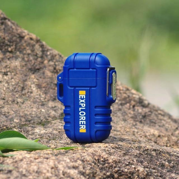 Waterproof USB Powered Electric Lighter blue