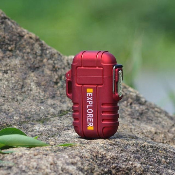 Waterproof USB Powered Electric Lighter red