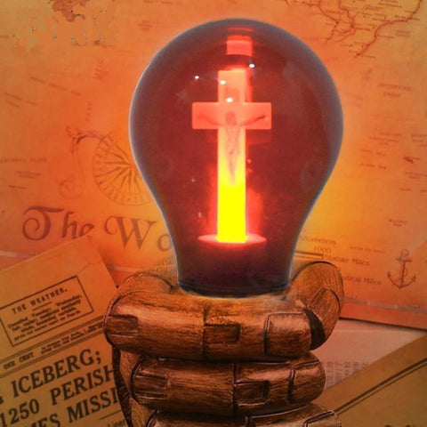 Cross bulb for Home and Church-Decorative Night Lamp-[variant_title]-Khadiza Electricals