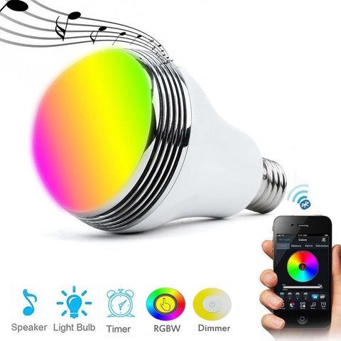 Bluetooth Speaker LED Bulb (9W, E27, Dim-able with Remote Control)-DJ Lights & Sound-[variant_title]-Khadiza Electricals