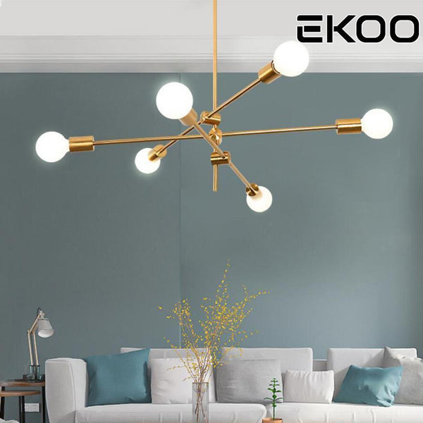 Sputnik Chandelier made of Brass  (6 Lights)-Decorative Chandelier-Without Bulb / China / 1-Khadiza Electricals