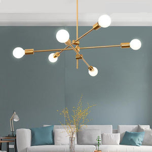 Sputnik Chandelier made of Brass  (6 Lights)-Decorative Chandelier-[variant_title]-Khadiza Electricals