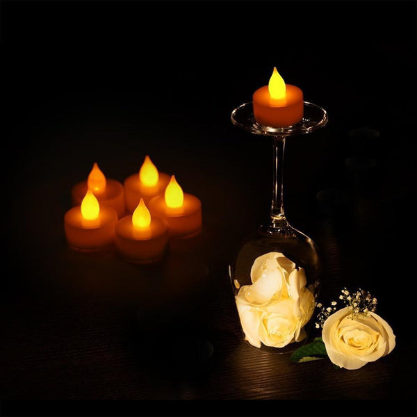 LED Flickering Candle Lamps (Pack of 24 PC)-Decorative Night Lamp-[variant_title]-Khadiza Electricals