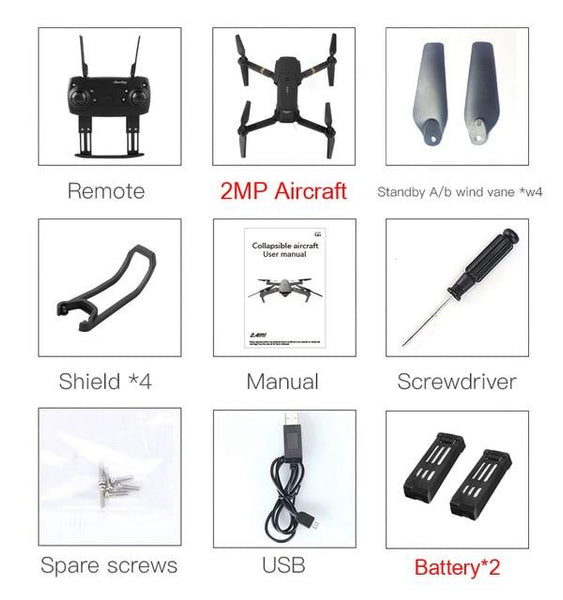 Eachine Remote Controlled Quad-copter Drone with Wide Angle HD Camera, High Hold Mode, Fold able Arm
