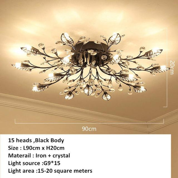 European Styled Luxurious Crystal Ceiling Chandelier