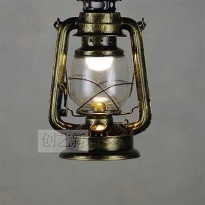 Vintage Retro Iron Hurricane Pendant Lamp-Decorative Pendant Lamp-1 light Bronze color-Khadiza Electricals