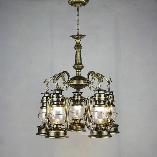 Vintage Retro Iron Hurricane Pendant Lamp-Decorative Pendant Lamp-[variant_title]-Khadiza Electricals