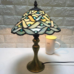Stylish Multicolor Glass Table Lamp Default title 0