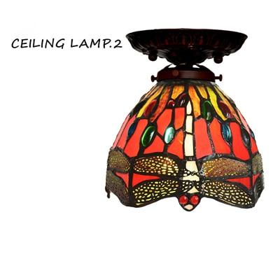 Dragonfly Stained Glass Pendant Lamp-Decorative Pendant Lamp-Brown-Khadiza Electricals