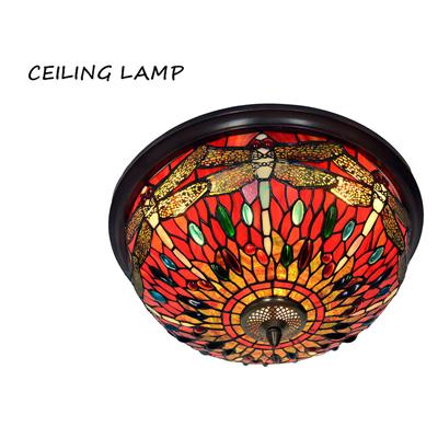 Dragonfly Stained Glass Pendant Lamp-Decorative Pendant Lamp-Black-Khadiza Electricals