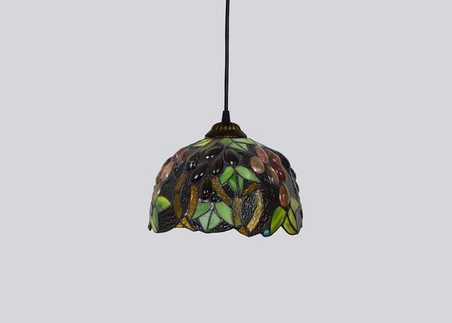 Baroque Stained Glass Pendant Lamp-Decorative Pendant Lamp-Grape / 40W / Warm White-Khadiza Electricals
