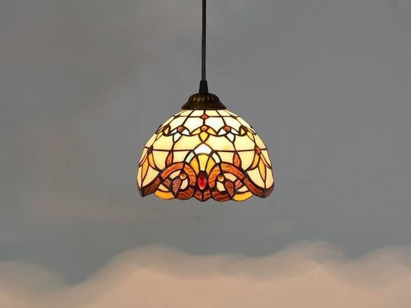 Baroque Stained Glass Pendant Lamp-Decorative Pendant Lamp-Baroque / 40W / Warm White-Khadiza Electricals