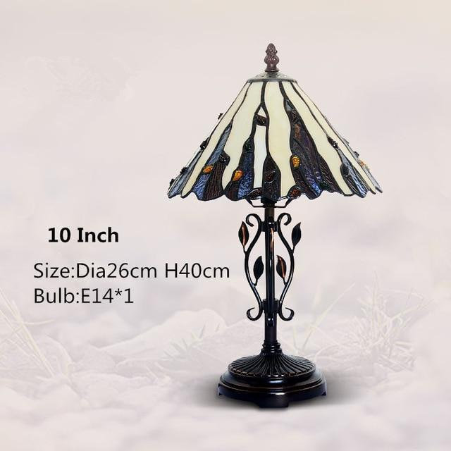 Tiffany Stained Glass Table Lamp-Decorative Table Lamp-10 Inch-Khadiza Electricals