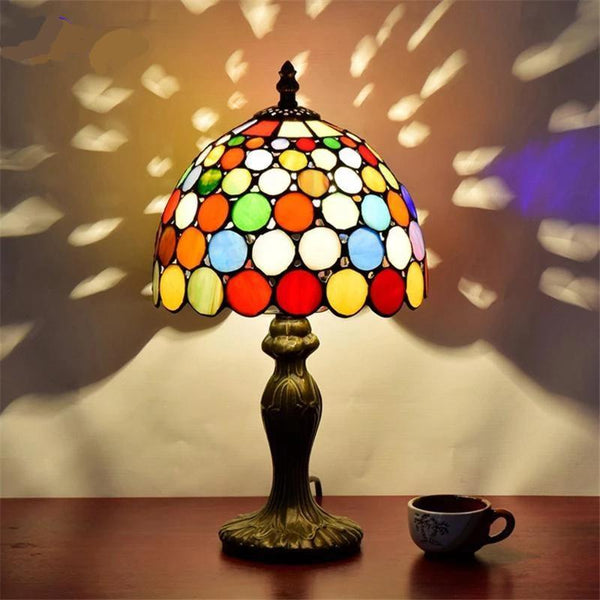Tiffany Stylish Stained Glass Table Lamps-Decorative Table Lamp-Default title 0-Khadiza Electricals