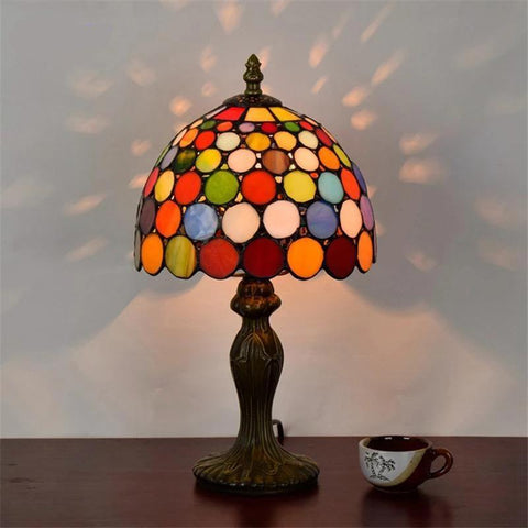 Tiffany Stylish Stained Glass Table Lamps-Decorative Table Lamp-[variant_title]-Khadiza Electricals