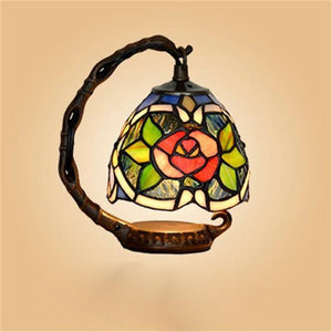 Flower Stained Glass Table Lamp-Decorative Night Lamp-[variant_title]-Khadiza Electricals