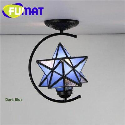 Diamond Star Stained Glass Ceiling Light