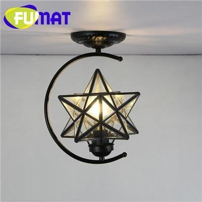 Diamond Star Stained Glass Ceiling Light-Decorative Chandelier-Transparent / 6-10W / Warm White-Khadiza Electricals