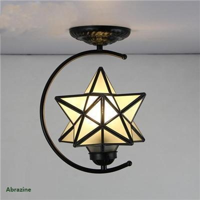 Diamond Star Stained Glass Ceiling Light-Decorative Chandelier-[variant_title]-Khadiza Electricals