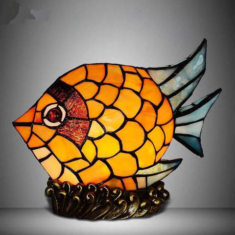 Fish Styled Stained Glass Table Lamp Default title 0
