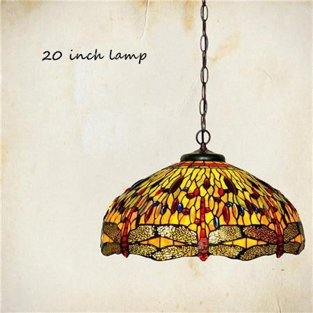 Dragonfly Stained Glass Pendant Lamp-Decorative Pendant Lamp-[variant_title]-Khadiza Electricals