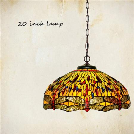 Dragonfly Stained Glass Pendant Lamp-Decorative Pendant Lamp-20 inch lamp-Khadiza Electricals