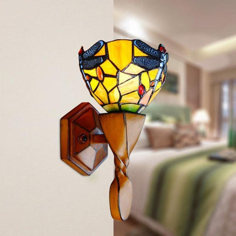 Dragonfly Stained Glass Wall Sconces Lamp