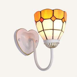 Colorful Stained Glass Wall light Gray / Warm White (2700-3500K)