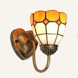 Colorful Stained Glass Wall light Red / Warm White (2700-3500K)