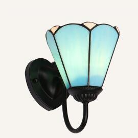 Colorful Stained Glass Wall light Blue / Warm White (2700-3500K)